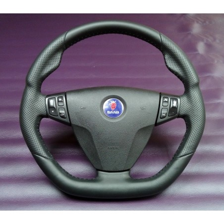 'Hirsch-Style' 9-3 Leather Steering Wheel