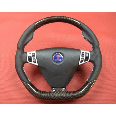 'Hirsch-Style' 9-3 Carbon-Leather Steering Wheel